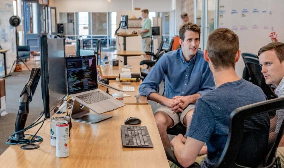 Men in Office with RMM computers